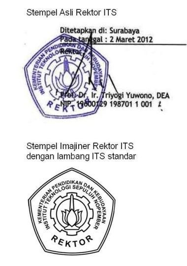 Stamp Rektor ITS